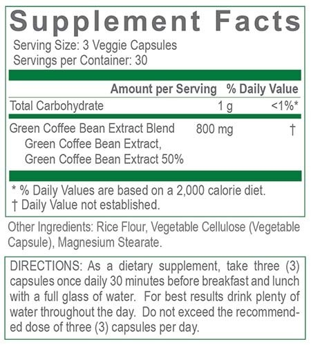 Creative Green Coffee Bean Pure Nutrition Rite